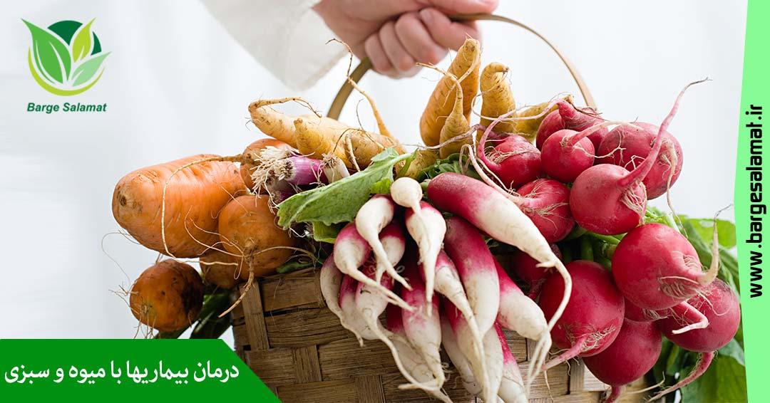 درمان بیماریها با میوه و سبزیجات